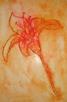 Dry-point etching of fossil lily