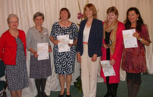 Margaret Walker, Janet Edmonds, Me, Beth French, Jill Harden (Floristry Award Winner),  and Jill Booker, Floristry Tutor.