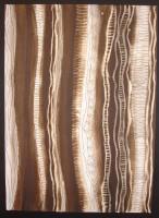 Design based on Mbuti bark-cloth, drawn with Potassium Permanganate, lemon-juice and ink