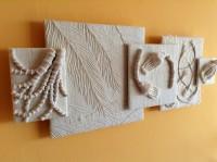 Wrapping, machine pin-tucks and couching on khadi silk.