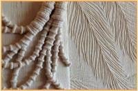 Wrapping, machine pin-tucks on khadi silk